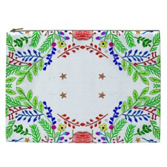 Holiday Festive Background With Space For Writing Cosmetic Bag (xxl)