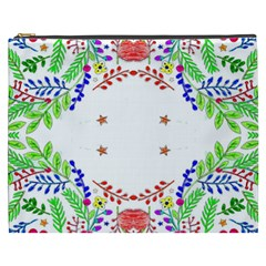 Holiday Festive Background With Space For Writing Cosmetic Bag (xxxl)