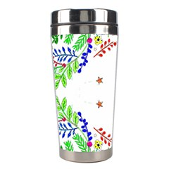 Holiday Festive Background With Space For Writing Stainless Steel Travel Tumblers