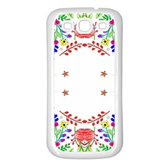 Holiday Festive Background With Space For Writing Samsung Galaxy S3 Back Case (white)