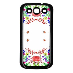 Holiday Festive Background With Space For Writing Samsung Galaxy S3 Back Case (black)
