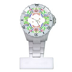 Holiday Festive Background With Space For Writing Plastic Nurses Watch