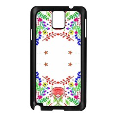 Holiday Festive Background With Space For Writing Samsung Galaxy Note 3 N9005 Case (black)