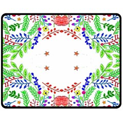 Holiday Festive Background With Space For Writing Double Sided Fleece Blanket (medium)