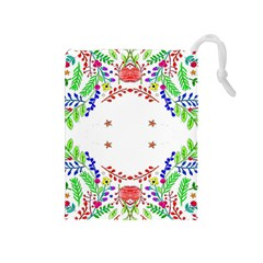 Holiday Festive Background With Space For Writing Drawstring Pouches (Medium)