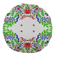 Holiday Festive Background With Space For Writing Large 18  Premium Flano Round Cushions