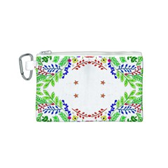 Holiday Festive Background With Space For Writing Canvas Cosmetic Bag (s)