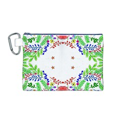 Holiday Festive Background With Space For Writing Canvas Cosmetic Bag (M)