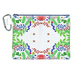 Holiday Festive Background With Space For Writing Canvas Cosmetic Bag (xxl)