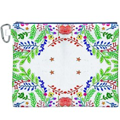 Holiday Festive Background With Space For Writing Canvas Cosmetic Bag (xxxl)