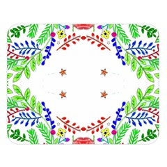 Holiday Festive Background With Space For Writing Double Sided Flano Blanket (large)