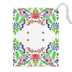 Holiday Festive Background With Space For Writing Drawstring Pouches (xxl)