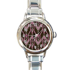 Pearly Pattern Round Italian Charm Watch