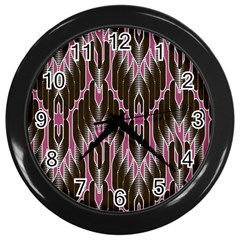 Pearly Pattern Wall Clocks (Black)