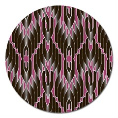 Pearly Pattern Magnet 5  (Round)