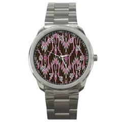 Pearly Pattern Sport Metal Watch