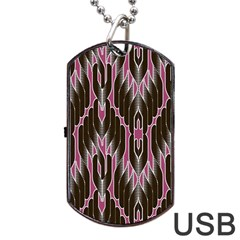 Pearly Pattern Dog Tag USB Flash (One Side)
