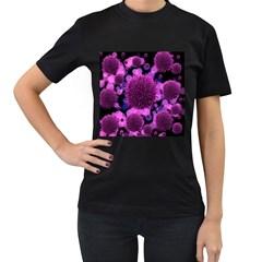 Hintergrund Tapete Keime Viren Women s T Shirt (black)