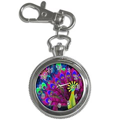 Peacock Abstract Digital Art Key Chain Watches