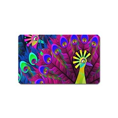 Peacock Abstract Digital Art Magnet (Name Card)