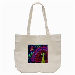 Peacock Abstract Digital Art Tote Bag (cream)