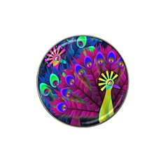 Peacock Abstract Digital Art Hat Clip Ball Marker (10 Pack)