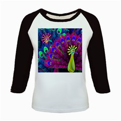 Peacock Abstract Digital Art Kids Baseball Jerseys