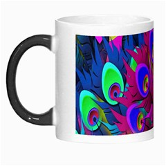 Peacock Abstract Digital Art Morph Mugs