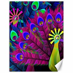 Peacock Abstract Digital Art Canvas 12  x 16
