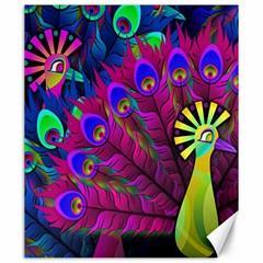 Peacock Abstract Digital Art Canvas 20  x 24