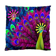 Peacock Abstract Digital Art Standard Cushion Case (One Side)