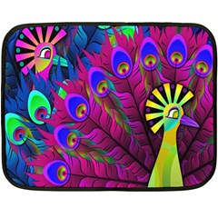 Peacock Abstract Digital Art Double Sided Fleece Blanket (Mini)