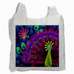 Peacock Abstract Digital Art Recycle Bag (Two Side)