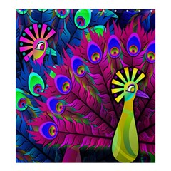 Peacock Abstract Digital Art Shower Curtain 66  x 72  (Large)