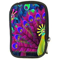 Peacock Abstract Digital Art Compact Camera Cases