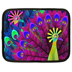 Peacock Abstract Digital Art Netbook Case (XL)