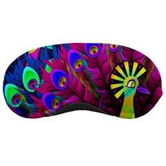 Peacock Abstract Digital Art Sleeping Masks