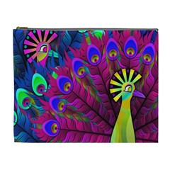 Peacock Abstract Digital Art Cosmetic Bag (XL)