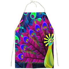 Peacock Abstract Digital Art Full Print Aprons