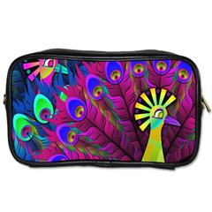 Peacock Abstract Digital Art Toiletries Bags