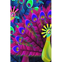 Peacock Abstract Digital Art 5.5  x 8.5  Notebooks