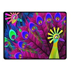 Peacock Abstract Digital Art Fleece Blanket (small)