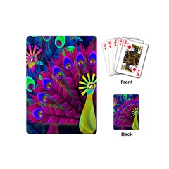 Peacock Abstract Digital Art Playing Cards (Mini)