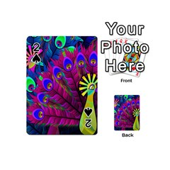 Peacock Abstract Digital Art Playing Cards 54 (Mini)