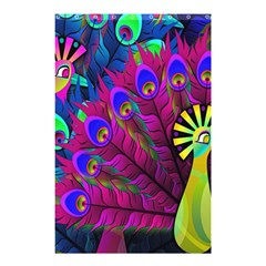 Peacock Abstract Digital Art Shower Curtain 48  X 72  (small)