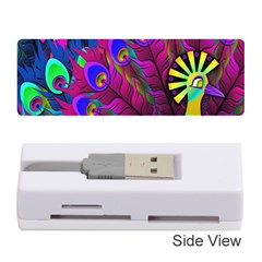 Peacock Abstract Digital Art Memory Card Reader (Stick)