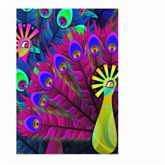 Peacock Abstract Digital Art Large Garden Flag (Two Sides)
