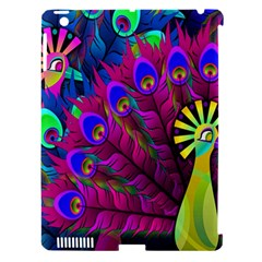 Peacock Abstract Digital Art Apple Ipad 3/4 Hardshell Case (compatible With Smart Cover)