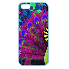 Peacock Abstract Digital Art Apple Seamless iPhone 5 Case (Color)