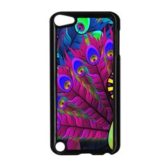 Peacock Abstract Digital Art Apple iPod Touch 5 Case (Black)